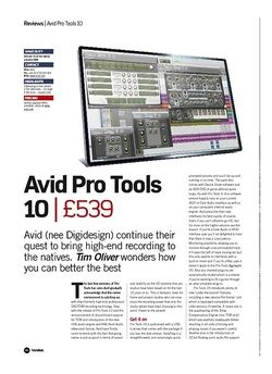 Future Music Avid Pro Tools 10