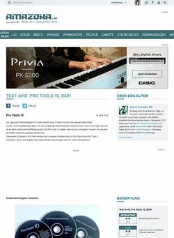 Amazona.de Test: Avid, Pro Tools 10, DAW