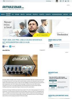Amazona.de Test: Akai, EIE Pro, USB 2.0 Audio Interface mit integriertem USB 2.0 Hub