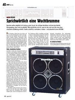 guitar gear Bassamp - Hartke VX3500