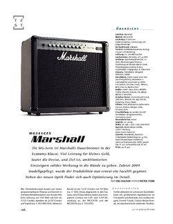 Gitarre & Bass Marshall MG101CFX, Gitarren-Combo