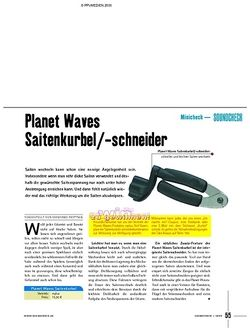 Soundcheck Test - Planet Waves Saitenkurbel