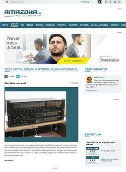 Amazona.de Test: Motu, 896 mk III Hybrid, Audio-Interface