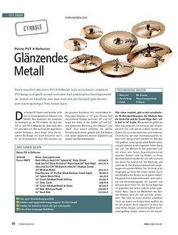 Soundcheck Test Cymbals: Paiste PST 8 Reflector
