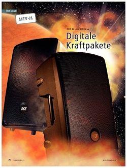 Soundcheck Test Aktiv-PA: RCF D Line HD12-A