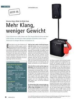 Soundcheck Test Aktiv-PA: Electro-Voice ZXA1 & ZXA1-Sub