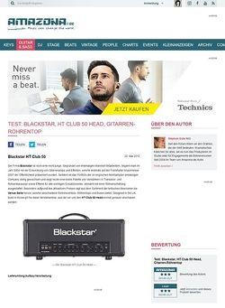 Amazona.de Test: Blackstar, HT Club 50 Head, Gitarren-Röhrentop