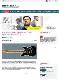 Amazona.de Test: Fender David Gilmour Signature Stratocaster, E-Gitarre