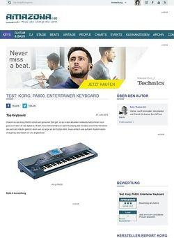 Amazona.de Test: Korg, PA800, Entertainer Keyboard