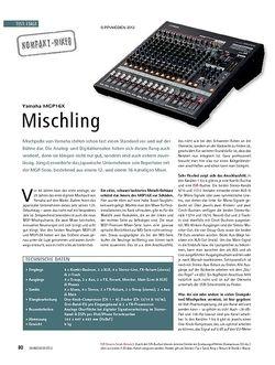 Soundcheck Test Kompakt-Mixer: Yamaha MGP16X