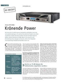 Soundcheck Test DSP-Enstufe: Crown XTi 4002