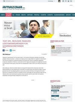 Amazona.de Test: SPL, Reducer, Passiver Leistungsbegrenzer für Gitarrenverstärker