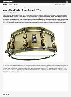 Bonedo.de Mapex Black Panther Snare Brass Cat  5,5 x 14