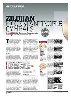Rhythm ZILDJIAN K CONSTANTINOPLE CYMBALS
