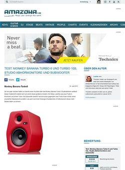 Amazona.de Test: Monkey Banana Turbo 6 und Turbo 10s, Studio Abhörmonitore und Subwoofer