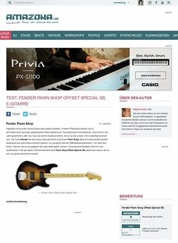 Amazona.de Test: Fender Pawn Shop Offset Special SB, E-Gitarre