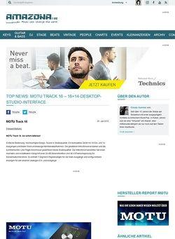 Amazona.de Top News: MOTU Track 16 - 16x14-Desktop-Studio-Interface