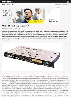 Bonedo.de API 2500 Bus Compressor