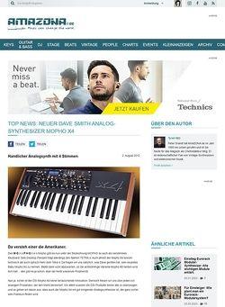 Amazona.de TOP NEWS: Neuer Dave Smith Analog-Synthesizer Mopho X4