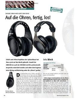Recording Magazin Auf die Ohren, fertig, los!