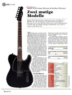 guitar gear E-Gitarre - Squier Avril Lavigne Telecaster & Jim Root Tele