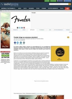 Audiofanzine.com Fender [American Standard Series] Jazz Bass