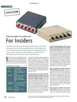Soundcheck Test Kompressoren: FMR Audio RNC1773 & RNLA7239