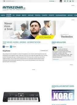 Amazona.de Top News: Korg, Krome, Workstation