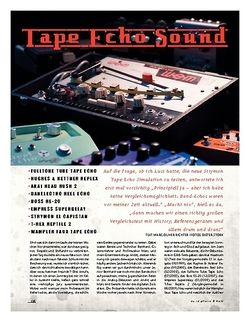 Gitarre & Bass Special! Tape Echo Sound!