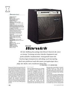 Gitarre & Bass Warwick BC150, Bass-Combo