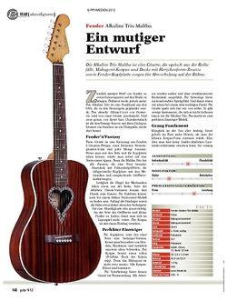 guitar gear Akustikgitarre - Fender Alkaline Trio Malibu