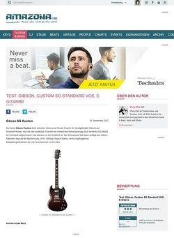 Amazona.de Test: Gibson, Custom SG Standard VOS, E-Gitarre