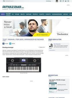 Amazona.de Test: Yamaha, PSR-S650, Arranger Keyboard