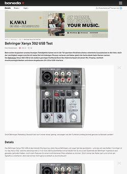 Bonedo.de Behringer Xenyx 302 USB