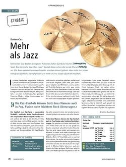 Soundcheck Test Cymbals: Zultan Caz