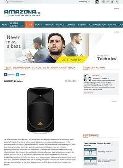 Amazona.de Test: Behringer, Eurolive B115MP3, Aktivbox