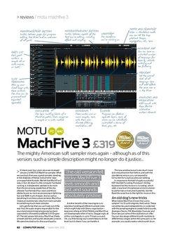 Computer Music MOTU machFive 3