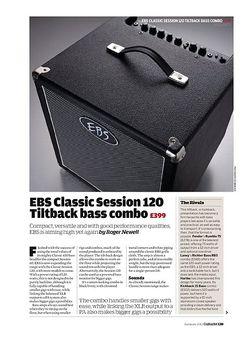 Guitarist EBS Classic Session 120 Tiltback bass combo Classic Session 120 Tiltback bass combo