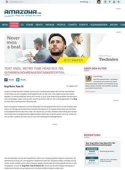 Amazona.de Test: Engl, Retro Tube Head 50 E 762, Gitarren-Röhrenverstärkertopteil