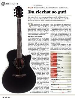 guitar gear Akustikgitarre - Furch Millenium G22 Blackline Grand Audito
