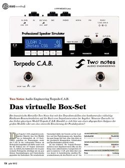 guitar gear Recording - Two Notes Audio Engineering Torpedo C.A.B.