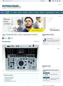 Amazona.de Test: Miditemp, MP11, MIDI- und Audio-Player