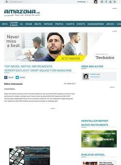 Amazona.de Top News: Native Instruments veröffentlicht DROP SQUAD für MASCHINE