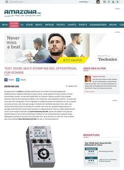 Amazona.de Test: ZOOM, Multi Stomp MS-50G, Effektpedal für Gitarre