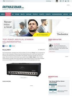 Amazona.de Test: Peavey, 6505 Plus, Gitarren-Vollröhrentopteil