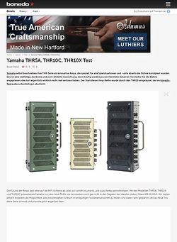 Bonedo.de Yamaha THR-Serie