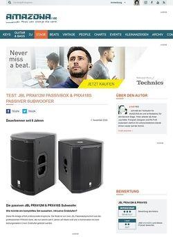Amazona.de Test: JBL, PRX418S und PRX412M, Passivboxen