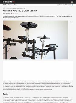 Bonedo.de Millenium MPS 500 E-Drum Set Test