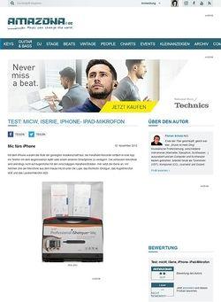 Amazona.de Test: micW, iSerie, iPhone- iPad-Mikrofon