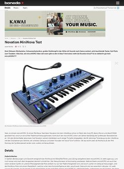Bonedo.de Novation MiniNova Test
